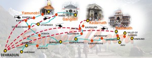 char dham yatra in india map
